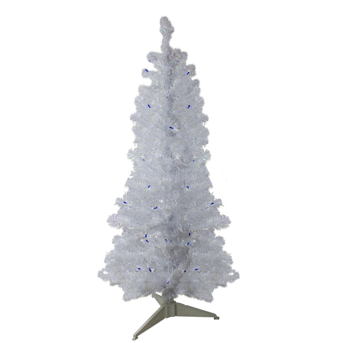 4' Pre-Lit Medium Pine Artificial Christmas Tree - Blue Lights - IMAGE 1