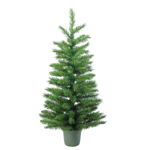 3' Potted Norway Spruce Medium Artificial Christmas Tree - Unlit - IMAGE 1