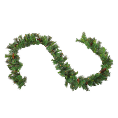 "9' x 12"" Green and Brown Pine Artificial Christmas Garland - Unlit - IMAGE 1"