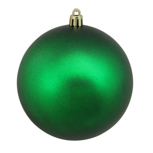 "Matte Green Shatterproof Christmas Ball Ornament 4"" (100mm) - IMAGE 1"