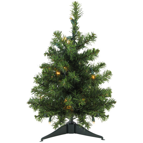 1.5' Pre-Lit Medium Canadian Pine Artificial Christmas Tree - Clear LED Lights - IMAGE 1