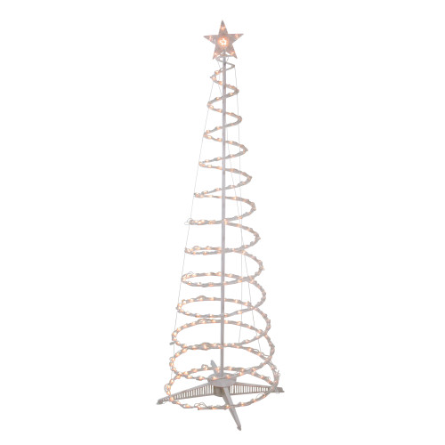 6' Clear Lighted Spiral Cone Tree Outdoor Christmas Decoration - IMAGE 1
