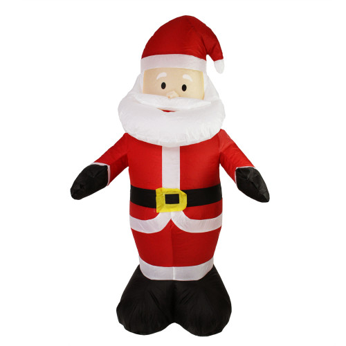 """48"""" Red and White Inflatable Santa Claus LED Lighted Christmas Outdoor Decor - IMAGE 1"""