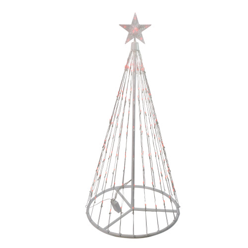 4' Red LED Lighted Christmas Tree Show Cone Outdoor Decoration - IMAGE 1