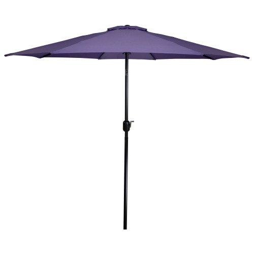 9ft Outdoor Patio Market Umbrella with Hand Crank and Tilt, Purple - IMAGE 1