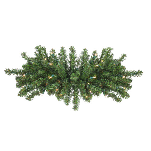 "32"" Pre-Lit Canadian Pine Artificial Christmas Swag - Clear Lights - IMAGE 1"