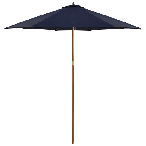 9ft Outdoor Patio Market Umbrella with Wood Pole, Navy Blue - IMAGE 1
