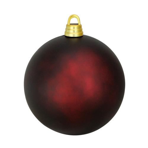 "Matte Burgundy Red Shatterproof Christmas Ball Ornament 12"" (300mm) - IMAGE 1"
