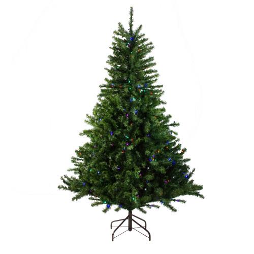 10' Pre-Lit Medium Canadian Pine Artificial Christmas Tree - Multicolor LED Lights - IMAGE 1