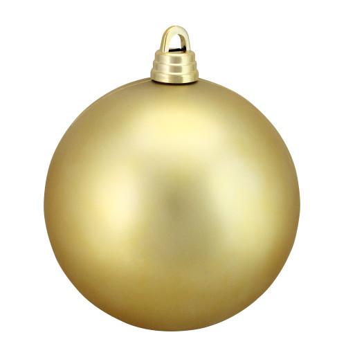 "Matte Vegas Gold Shatterproof Christmas Ball Ornament 12"" (300mm) - IMAGE 1"