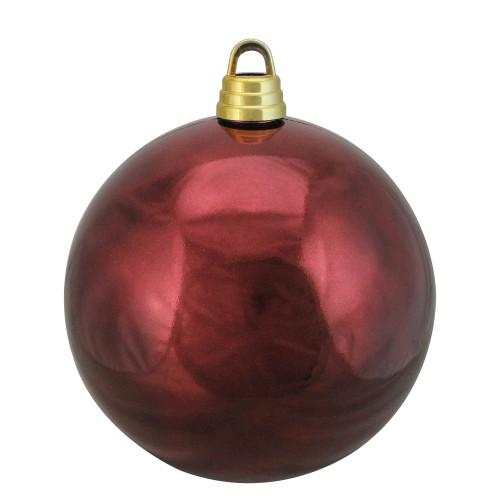 "Shiny Burgundy Red Shatterproof Christmas Ball Ornament 12"" (300mm) - IMAGE 1"