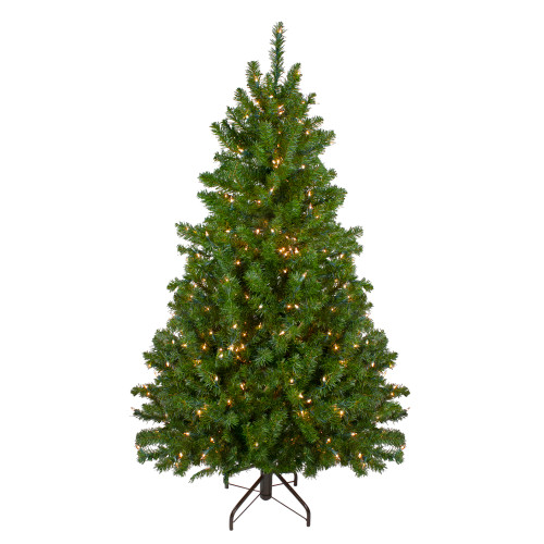 5' Pre-Lit Medium Canadian Pine Artificial Christmas Tree - Clear Lights - IMAGE 1
