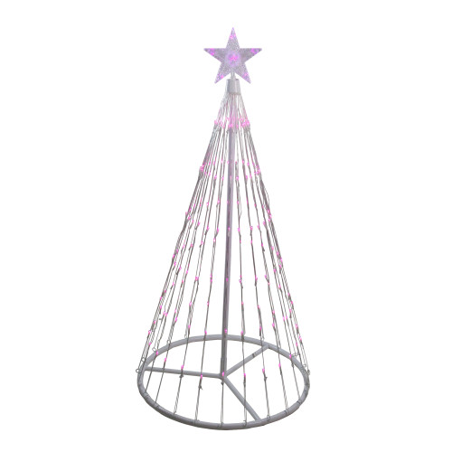 4' Pink LED Lighted Show Cone Christmas Tree Outdoor Decoration - IMAGE 1