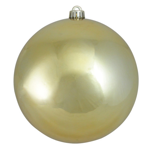 """Shiny Champagne Gold Shatterproof Christmas Ball Ornament 10"""" (250mm) - IMAGE 1"""