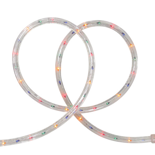 Vibrantly Colored Outdoor Christmas Rope Lights - 18ft Clear Wire - IMAGE 1
