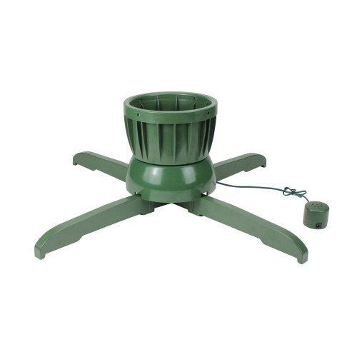 """24"""" Green Musical Rotating Christmas Tree Stand - For Live Trees - IMAGE 1"""