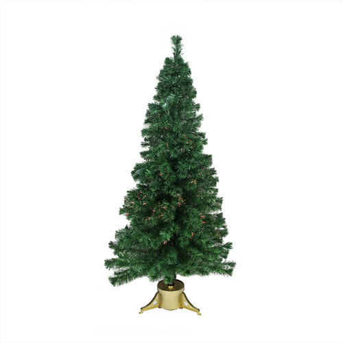 4' Pre-Lit Color Changing Fiber Optic Artificial Christmas Tree - IMAGE 1