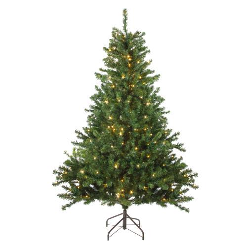 5' Pre-Lit LED Medium Canadian Pine Artificial Christmas Tree - Candlelight Lights - IMAGE 1