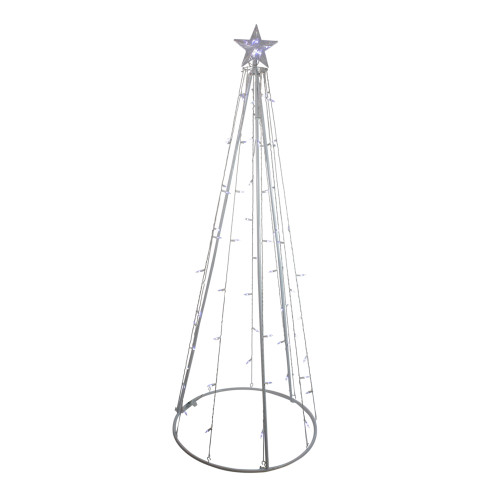 6' White LED Lighted Cone Tree Outdoor Christmas Decor - IMAGE 1