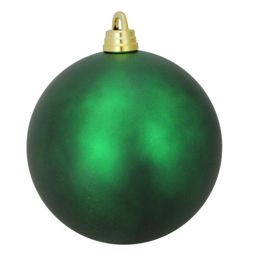 "Matte Xmas Green Shatterproof Commercial Christmas Ball Ornament 12"" (300mm) - IMAGE 1"