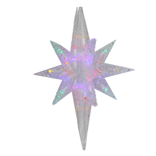 "19"" Multicolor LED Twinkling 3D Bethlehem Star Hanging Christmas Decoration - IMAGE 1"