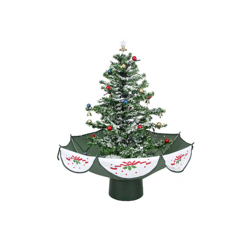 Snowing And Musical Christmas Tree: 4.5' Pre-Lit Medium Musical Snowing Artificial Christmas