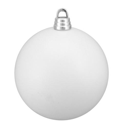 "Winter White Shatterproof Matte Christmas Ball Ornament 12"" (300mm) - IMAGE 1"