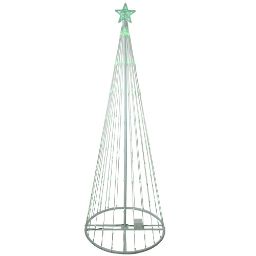 12' Green LED Lighted Show Cone Christmas Tree Outdoor Decoration - IMAGE 1