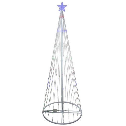 6' Multi-Color LED Lighted Show Cone Christmas Tree Outdoor Decoration - IMAGE 1