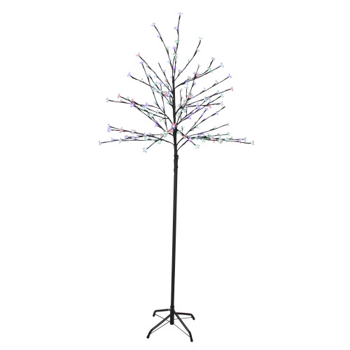 6' LED Lighted Cherry Blossom Flower Tree - Color Changing Lights - IMAGE 1