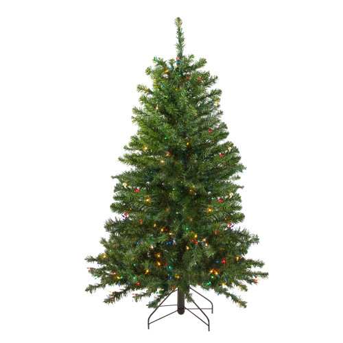 4' Pre-Lit Full Canadian Pine Artificial Christmas Tree - Multicolor Lights - IMAGE 1