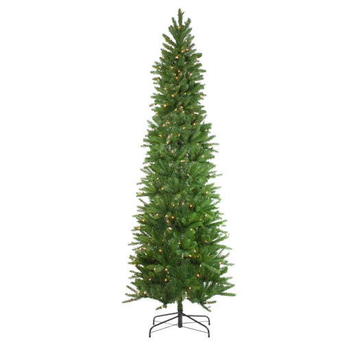7.5' Pre-Lit Pencil Northwood Noble Fir Artificial Christmas Tree - Clear Lights - IMAGE 1