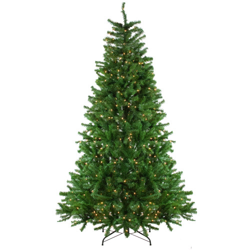 7.5' Pre-Lit Slim Waterton Spruce Artificial Christmas Tree - Clear Lights - IMAGE 1