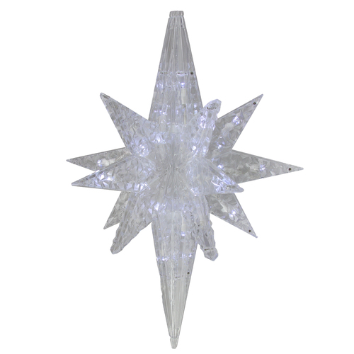 "19"" White Twinkling 3D Bethlehem Star LED Lighted Hanging Christmas Decoration - IMAGE 1"