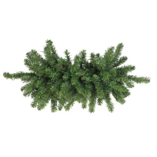 """32"""" Canadian Pine Artificial Christmas Door Swag - Unlit - IMAGE 1"""
