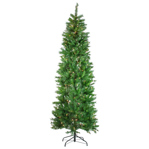 7.5' Pre-Lit Stillwater Spruce Pencil Artificial Christmas Tree - Clear Lights - IMAGE 1