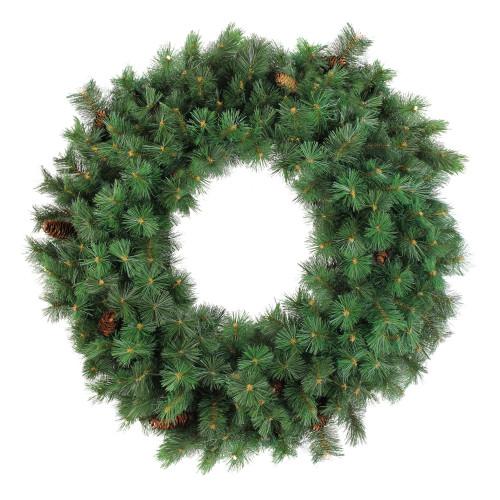 Green Royal Oregon Pine Artificial Christmas Wreath - 48-Inch, Unlit - IMAGE 1