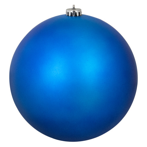 "Matte Lavish Blue Commercial Shatterproof Christmas Ball Ornament 8"" (200mm) - IMAGE 1"
