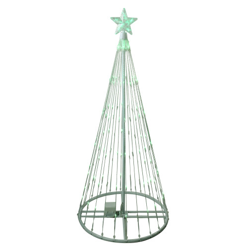 4' Green LED Lighted Christmas Tree Show Cone Outdoor Decoration - IMAGE 1