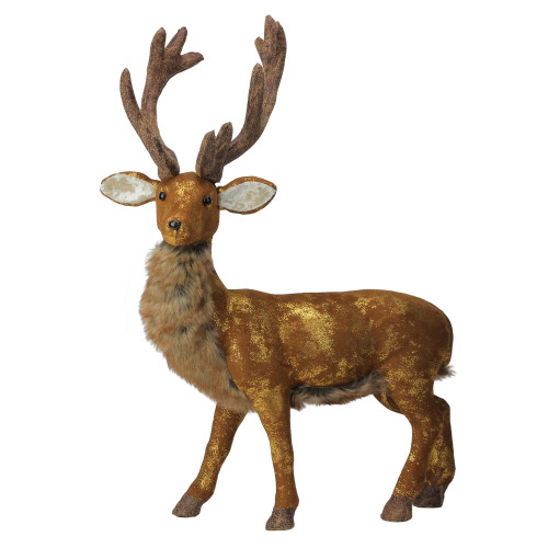 "24"" Brown and Gold Standing Reindeer Christmas Tabletop Figure - IMAGE 1"