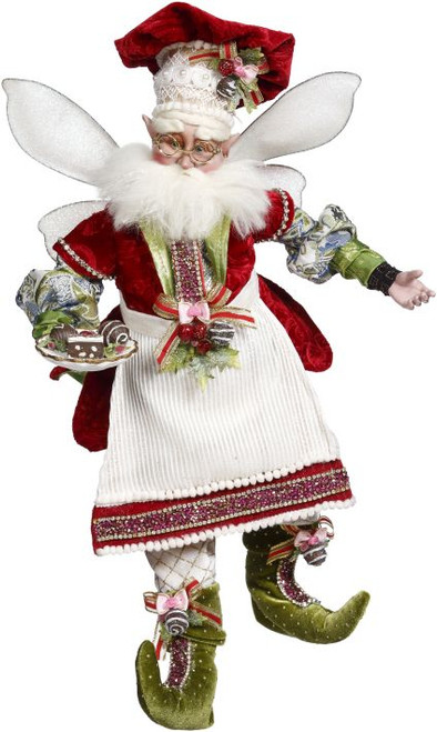 """Mark Roberts Red and White All the Trimmings Christmas Fairy - Large 19""""  #51-85782 - IMAGE 1"""