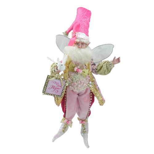 "Pink and White Spirit of Hope Breast Cancer Awareness Fairy Figurine, Medium 16"" - IMAGE 1"