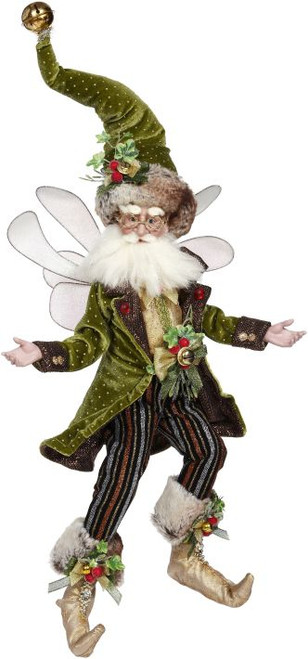 """19"""" Green and Red Holly and Ivy Large Christmas Fairy - IMAGE 1"""