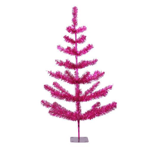 3' Medium Fuchsia Pink Pine Twig Artificial Christmas Tree - Unlit - IMAGE 1