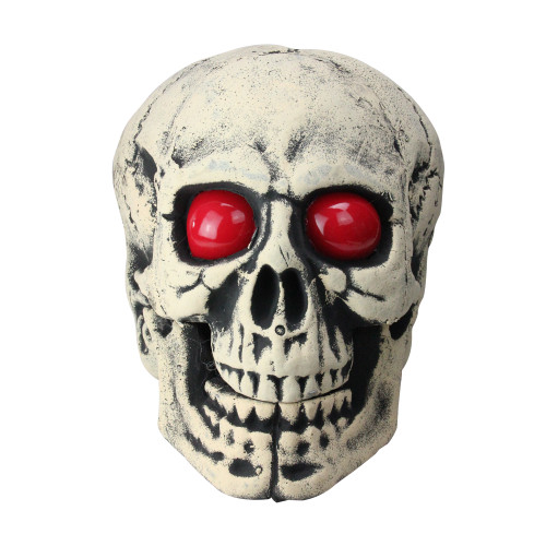 """18"""" Skull Head with LED Lighted Eyes Halloween Decoration - IMAGE 1"""