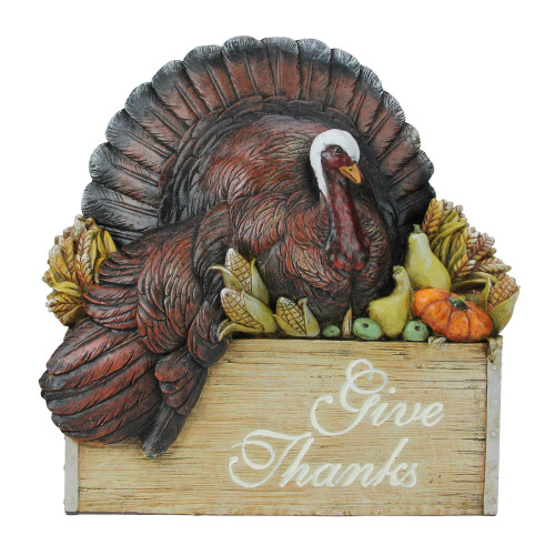 """10.5"""" Joseph Studio""""s Thanksgiving Turkey in a Crate Tabletop Decoration - IMAGE 1"""