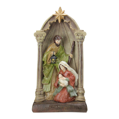 "14.5"" Holy Family and Angel Figures Christmas Nativity Statue Decor - IMAGE 1"