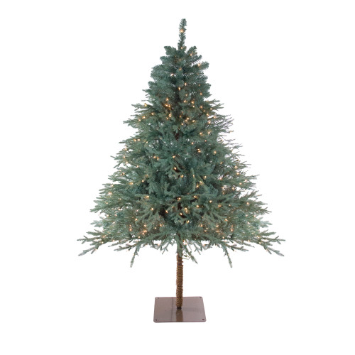 6.5' Pre-Lit Full Fairbanks Alpine Artificial Christmas Tree - Clear Lights - IMAGE 1