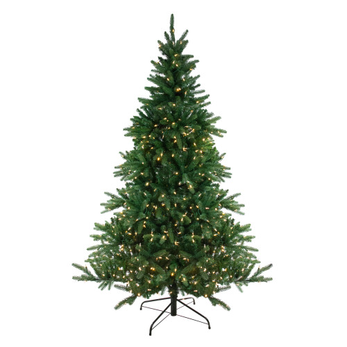 6.5' Pre-Lit Medium Instant-Connect Noble Fir Artificial Christmas Tree - Dual LED Lights - IMAGE 1