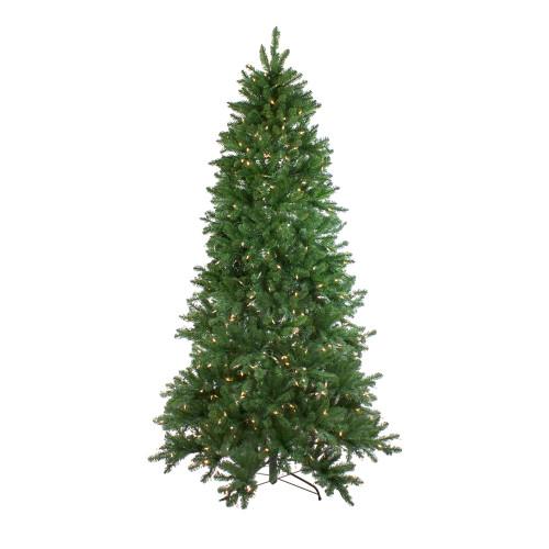 7.5' Pre-Lit Medium Neola Fraser Fir Artificial Christmas Tree - Dual Color LED Lights - IMAGE 1